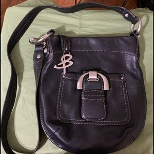 B Makowsky Leather Crossbody Bag